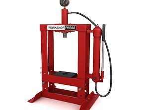 Hydraulic bench press 3D model