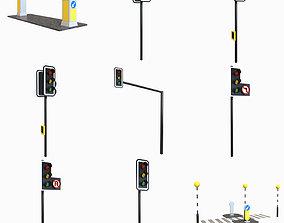 Traffic Props 3D model VR / AR ready