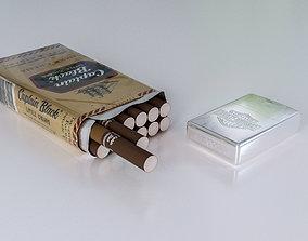 cigarette and zippo 3D asset tobacco