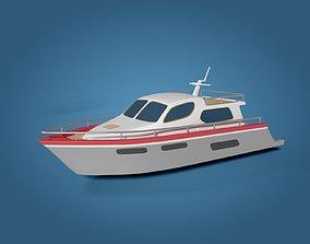 Carton Yacht 3D model