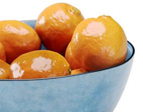 3D Bowl of Mandarins