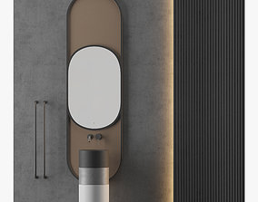 MODERN - Gray Bathroom - 05 3D model