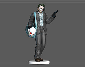 JOKER BANK ROBBER BATMAN DARK NIGHT DC STATUE