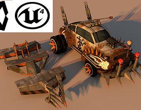3D model Battle Car 4