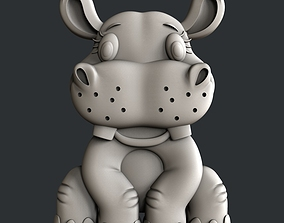 3d Models for 3d printer Hippo for kids
