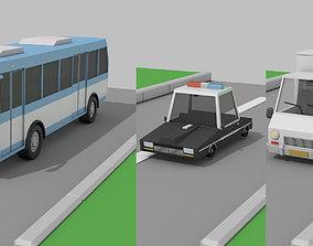 low poly car 3D model copcar