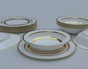 Plate 3D model VR / AR ready
