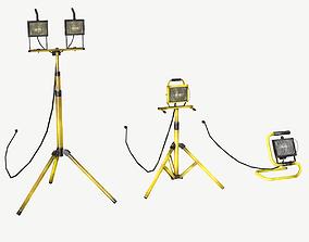 3D asset Halogen Work Lights