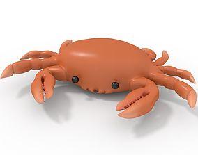 3D model Orange Rigged Crab