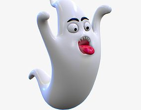 Cartoon Ghost Character V2 3D model