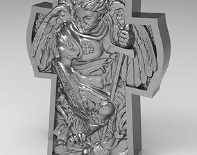 gold 3D print model Arhangel Michael