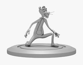 human PINK PANTHER 3D PRINT