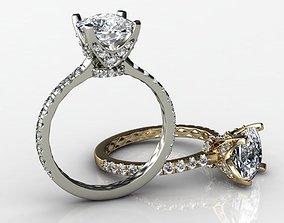 3D printable model Big Cushion Diamond Ring