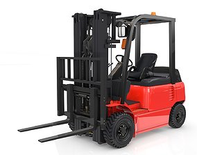 Forklift Animated 3D