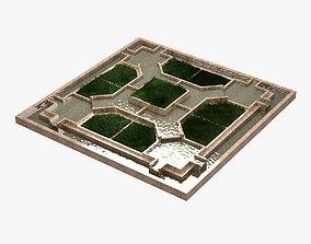 Inner Garden 3D asset low-poly