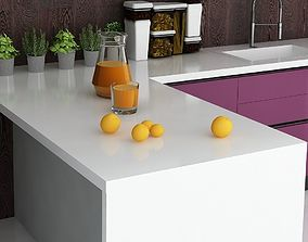 3D model orange juice mandarins