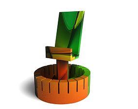 Menu card display 3D print model