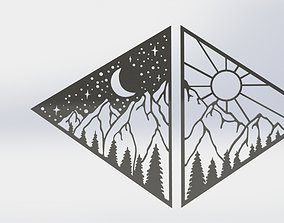 3D printable model Moon And Sun Wall Decor