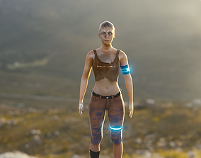 3D rigged Veronica Woman Soldier