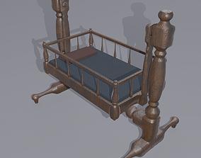 3D model Antique Medieval Cradle