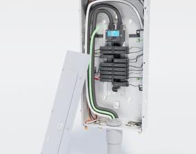 3D model meter-base Breaker Box