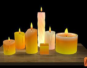 Candles flames 3D