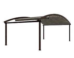 Motorized Pergola 4 rust 2 3D