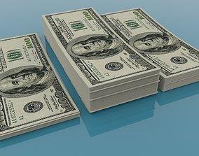 America Dollar 100 Currency 3D model