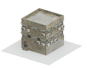 3D model Old Soviet Building expression