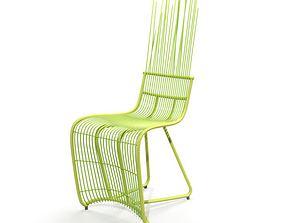Green Bamboo Chair 3D