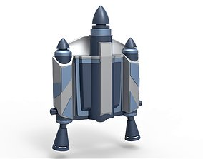 Jango Fett Jetpack from Star Wars 3D printable model 4