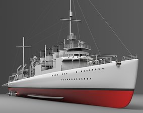 Watercraft 3 - Destroyer Ship arizona 3D model