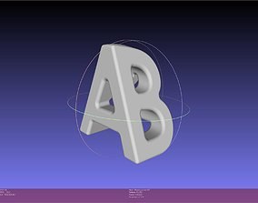 AB Textflip Warped For Perspective 3D printable model