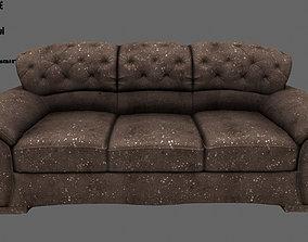 settee Armchair 3D model realtime