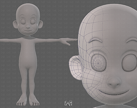 3D model Base mesh boy character V13