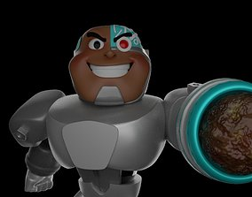 3D printable model Cyborg-Teen Titans Go-15Cm