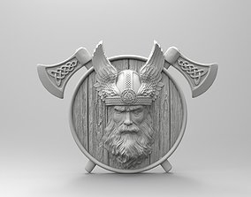 3D print model Odin with wings and axes Scandinavian 1