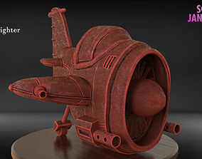 Stylized Fighter Airplane 3D print model