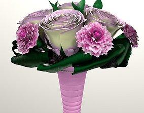 PBR Bouquet of brides 3d model