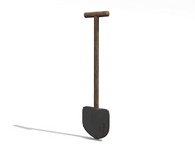 3D model Low poly shovel
