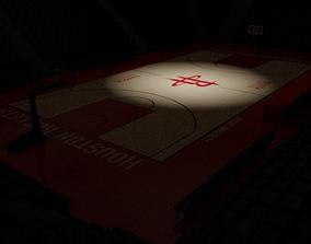 Basketball Stadium With Houston Rockets Texture 3D asset