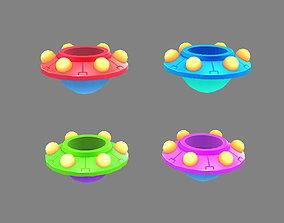 Cartoon alien spaceship - UFO 3D model