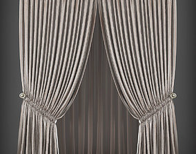 Curtain 3D model 248 low-poly