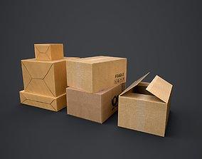 Cardboard Boxes Pack 3D model