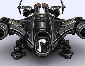 VR / AR ready 3DRT - Sci-Fi Dropship 1