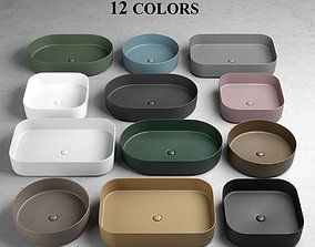 Ceramica Cielo Shui Comfort Washbasins 3D model