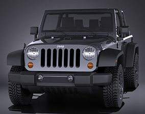 Jeep Wrangler Willis Wheeler 2016 VRAY 3D model
