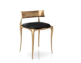 3D Aria Chair in Bronze by Paul Mathieu