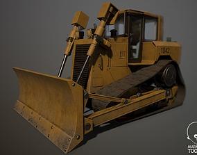 Construction Track Dozer 3D asset