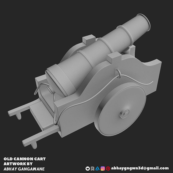 OLD CANNON CART